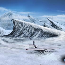 Winter Village Plane